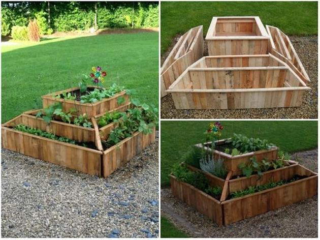 Repurposed Pallet Planter