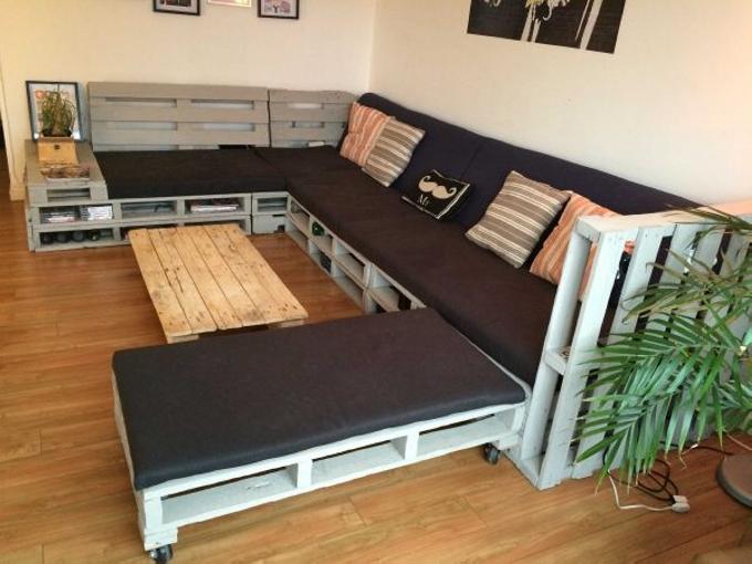 Repurposed Pallets Sofas
