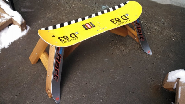 Snowboard Bench Ideas