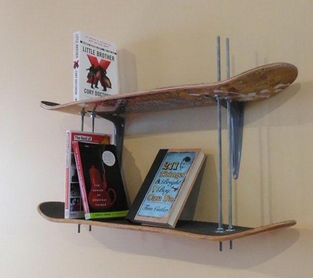 Snowboard Bookshelf