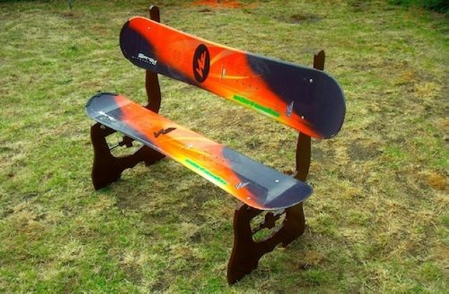 Snowboard Garden Furniture Ideas