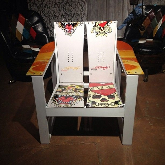 Snowboard Recycled Chair Ideas