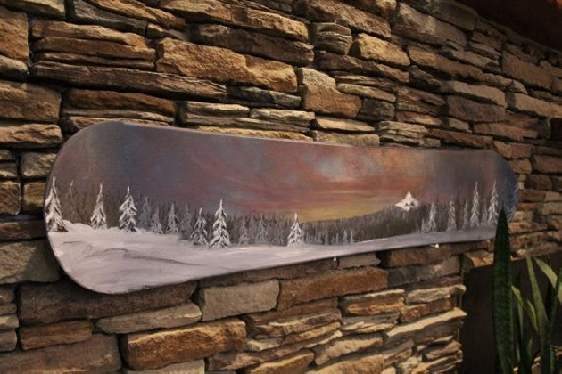 Snowboard Recycled Wall Art