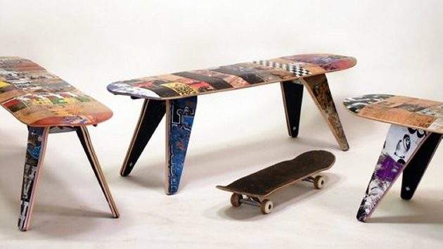 Snowboard Repurposed Furniture