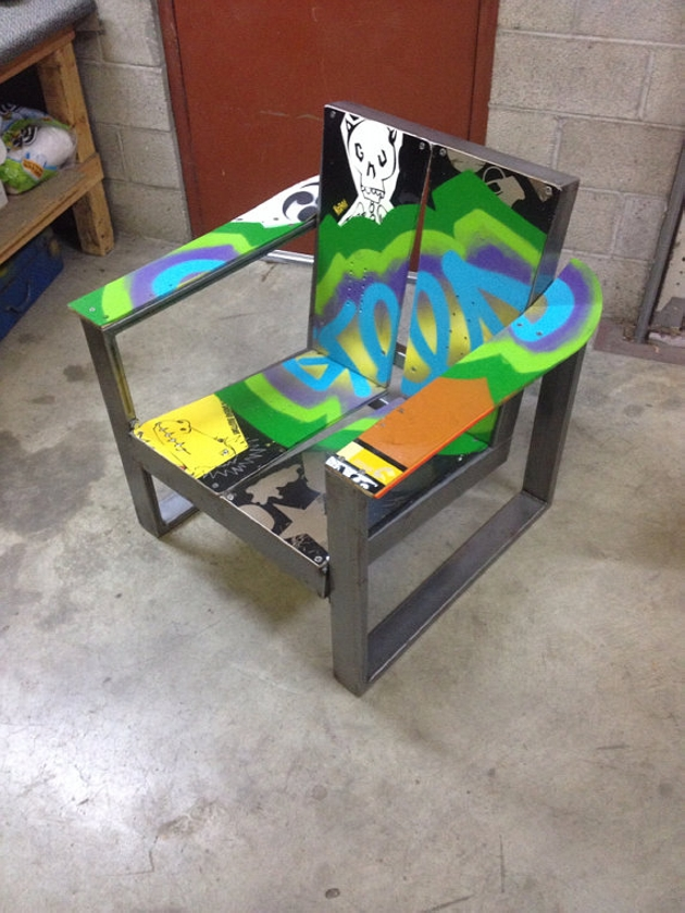 Snowboard Upcycled Chair
