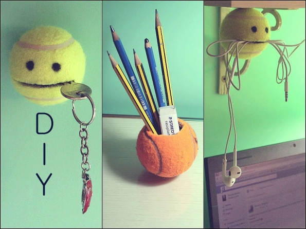 Tennis Ball Craft Ideas