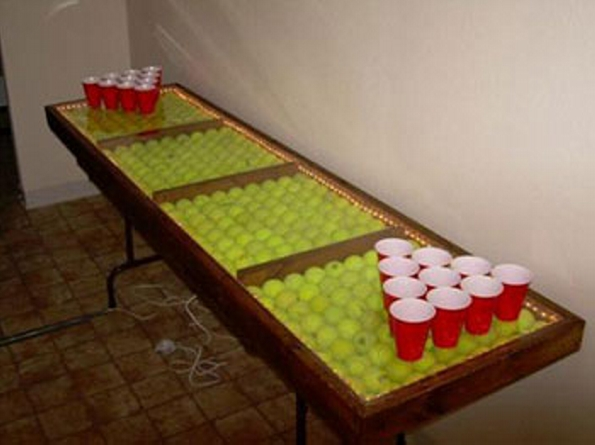 Tennis Ball Decorated Table