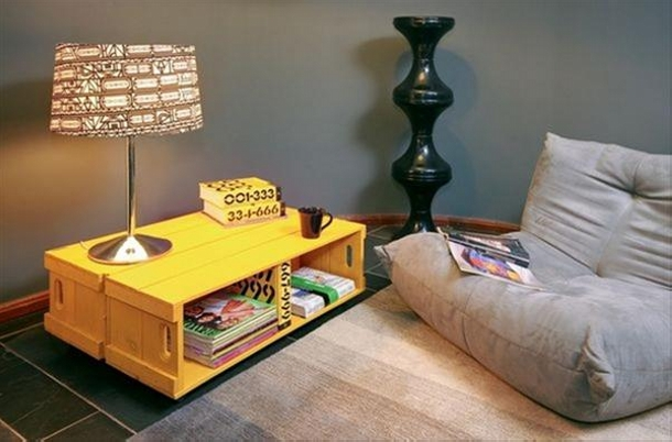 Upcycled Book Side Table