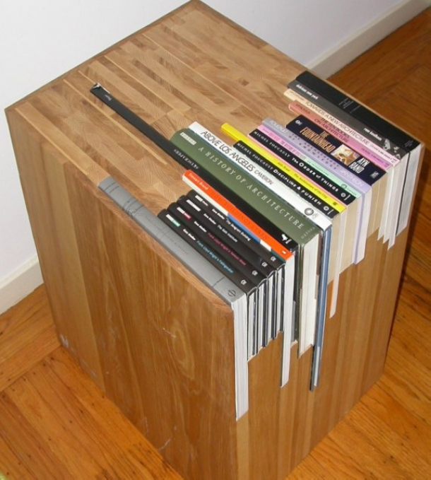 Upcycled Book Table Ideas
