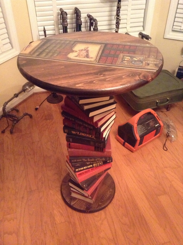 Upcycled Book Table
