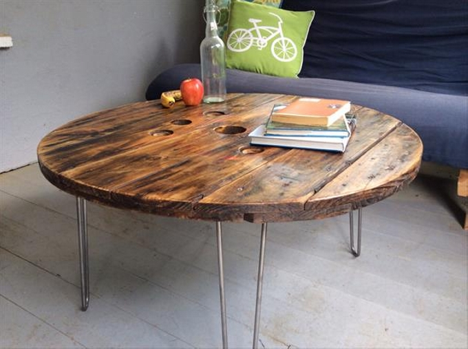 Upcycled Cable Spool Table