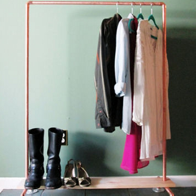Upcycled Pipe Clothes Wardrobe