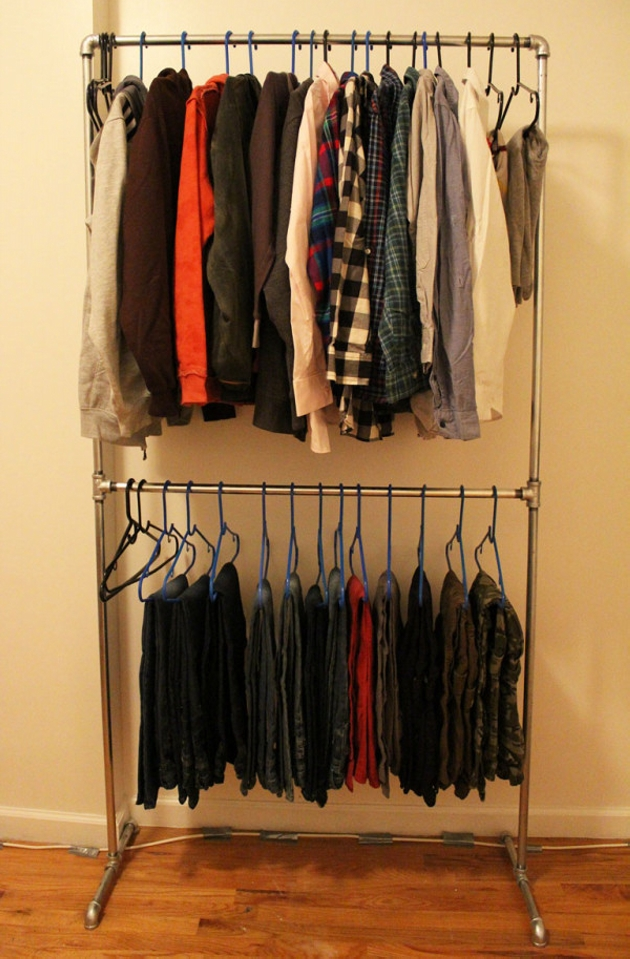 Upcycled Pipe Clothing Rack
