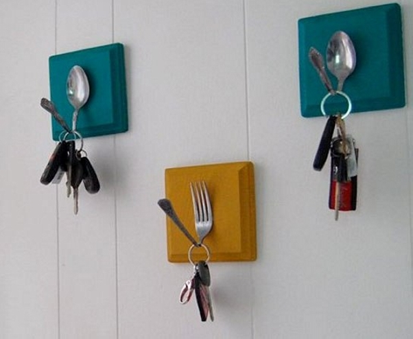 Upcycled Spoons Key Holders