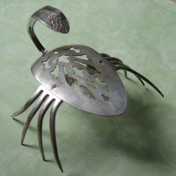 Upcycled Spoons Metal art