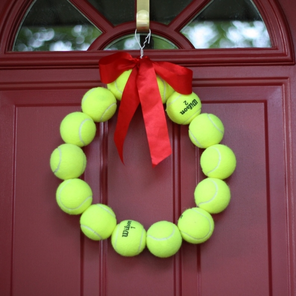 Upcycled Tennis Ball Wreath