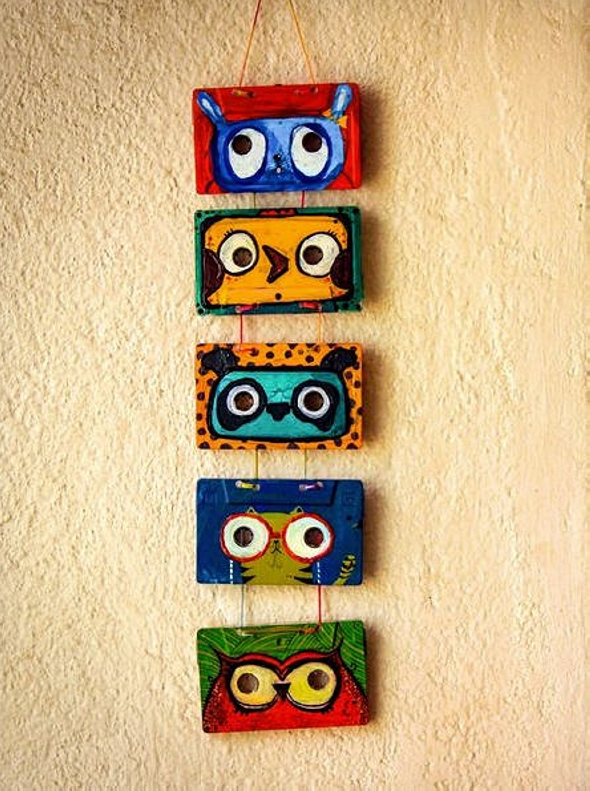 Wall Decor with Cassette Tapes