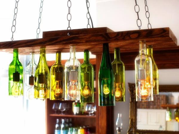 Wine Glass Bottles Chandelier