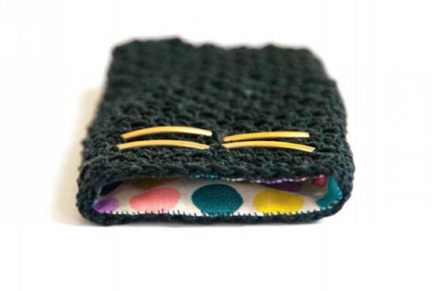 crochet mobile case wallet