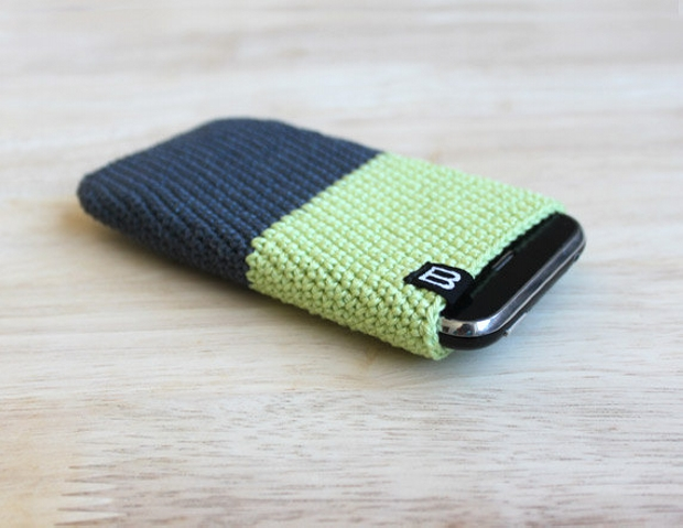 iphone crochet mobile phone cover