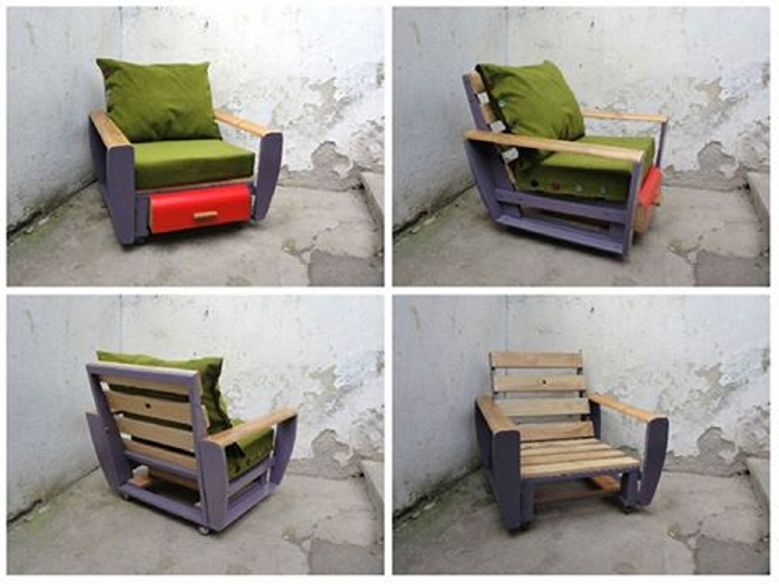 outdoor chair with pallets