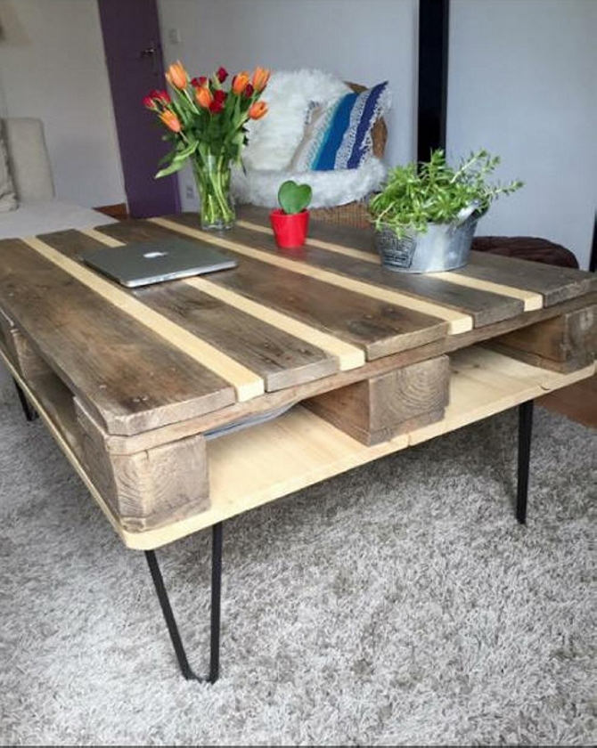 pallet coffee table plan