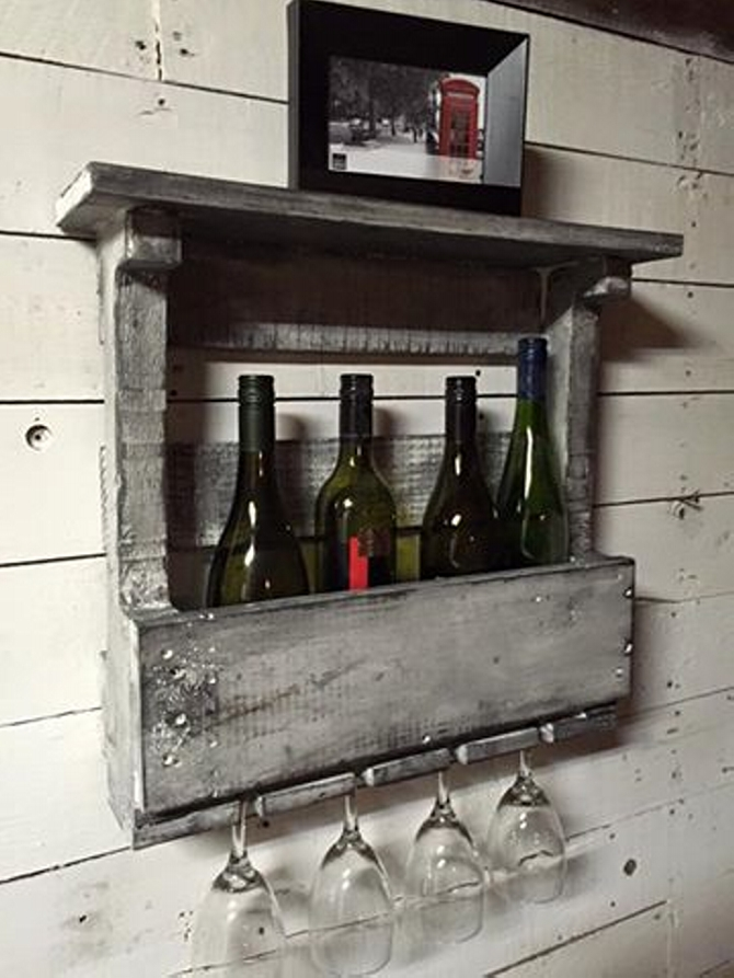pallet drink shelf