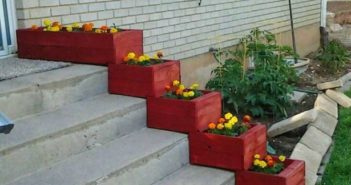 pallet stairs planters