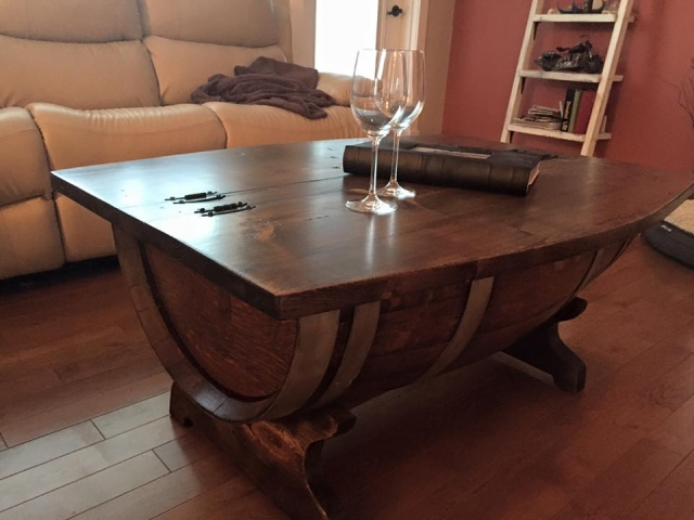 pallet upcycled coffee table