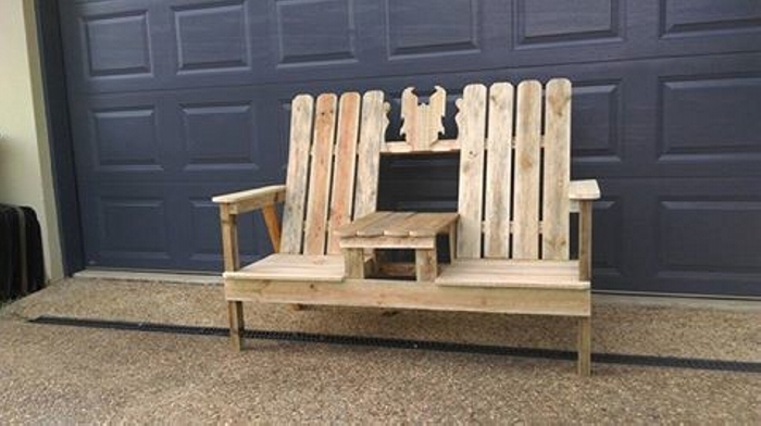 pallet wood double chair