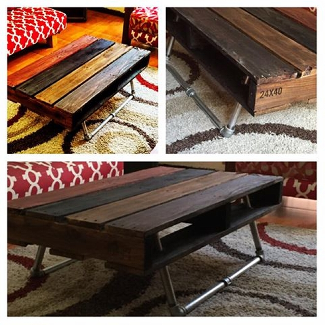 reclaimed pallet vintage table