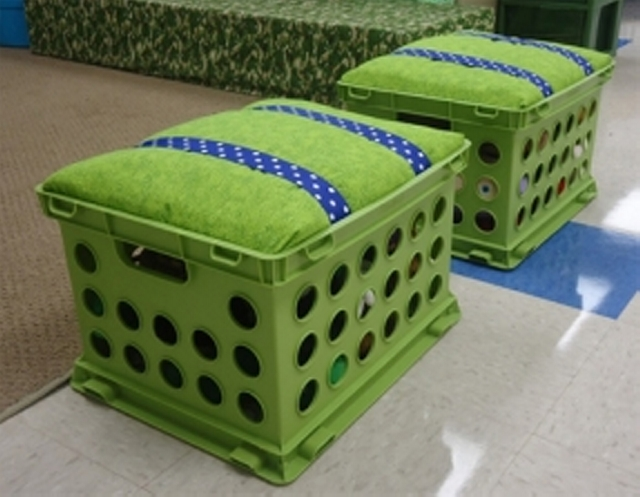 recycle upcycle plastic crates