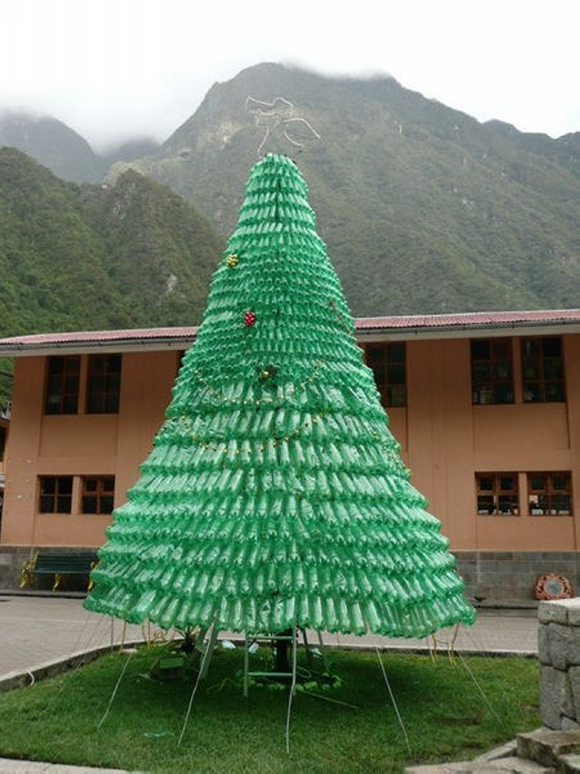 recycled bottles trees