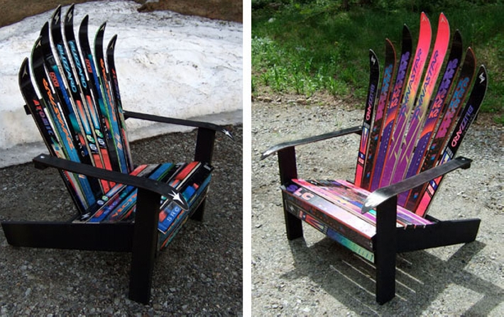 recycled skis furniture