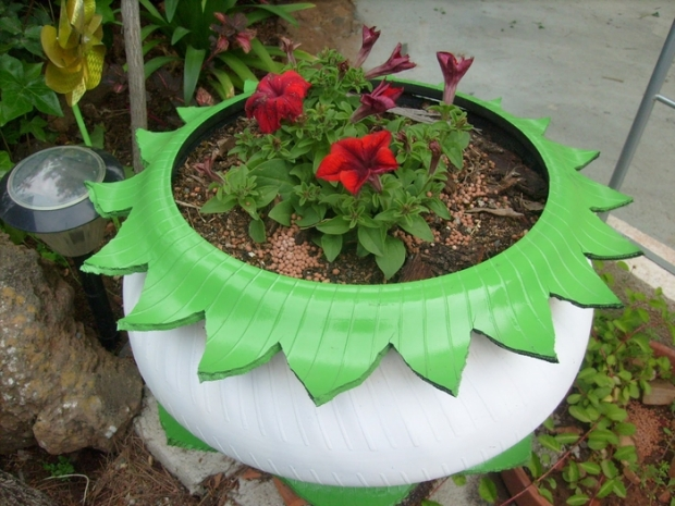 used tires garden planter