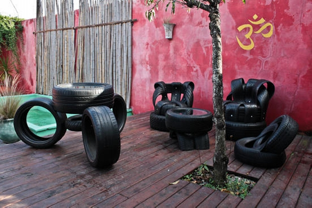 used tires outdoor furniture