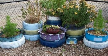 used tires planters