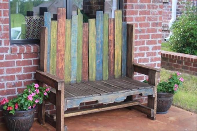 vintage pallet bench