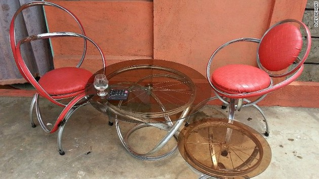 Bicycle Wheels Recycled Furniture