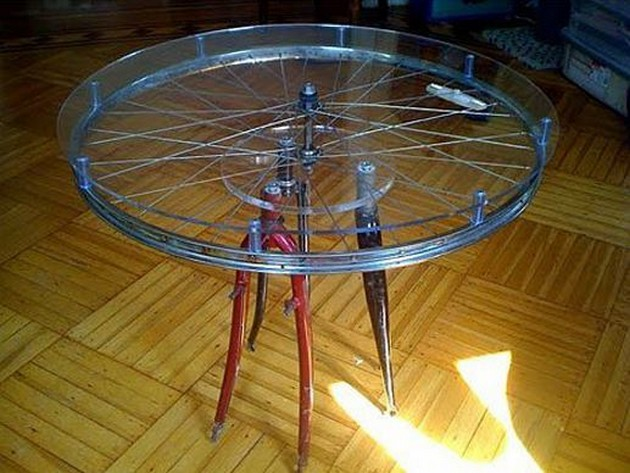 Bike Wheels Made Table