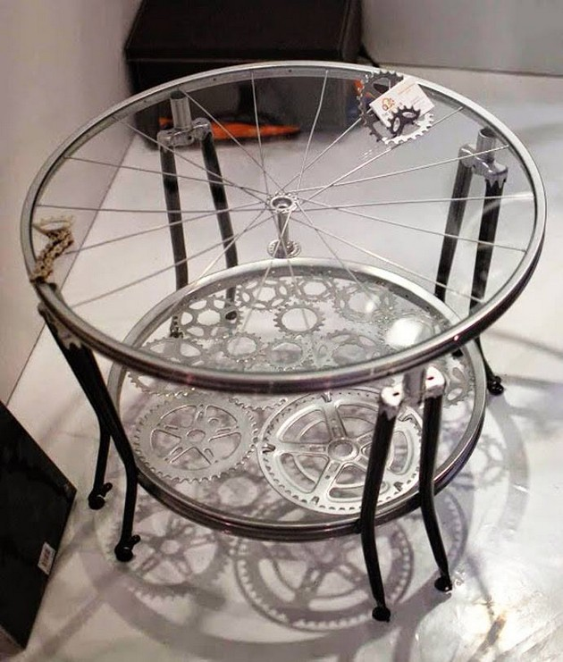 Bike Wheels Reused Furniture