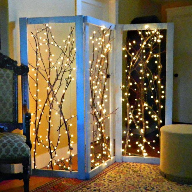 Decorated Room Divider
