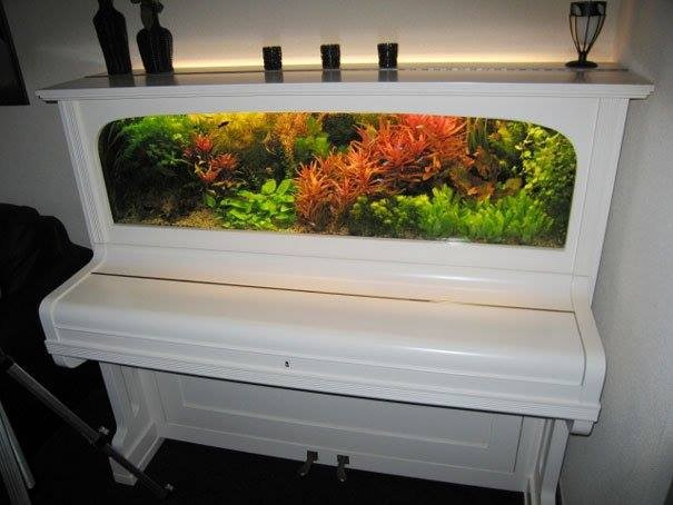 Old Pianos Reused Decor Art