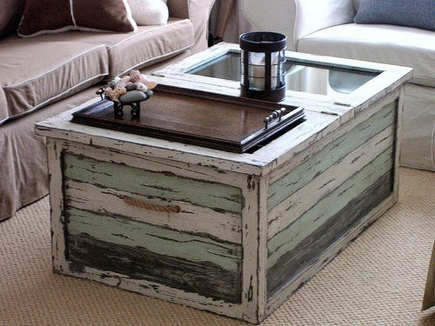 Recycled Old Trunks Table