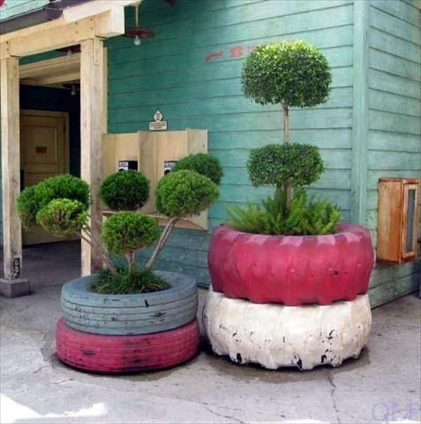 Recycled Tyres Garden