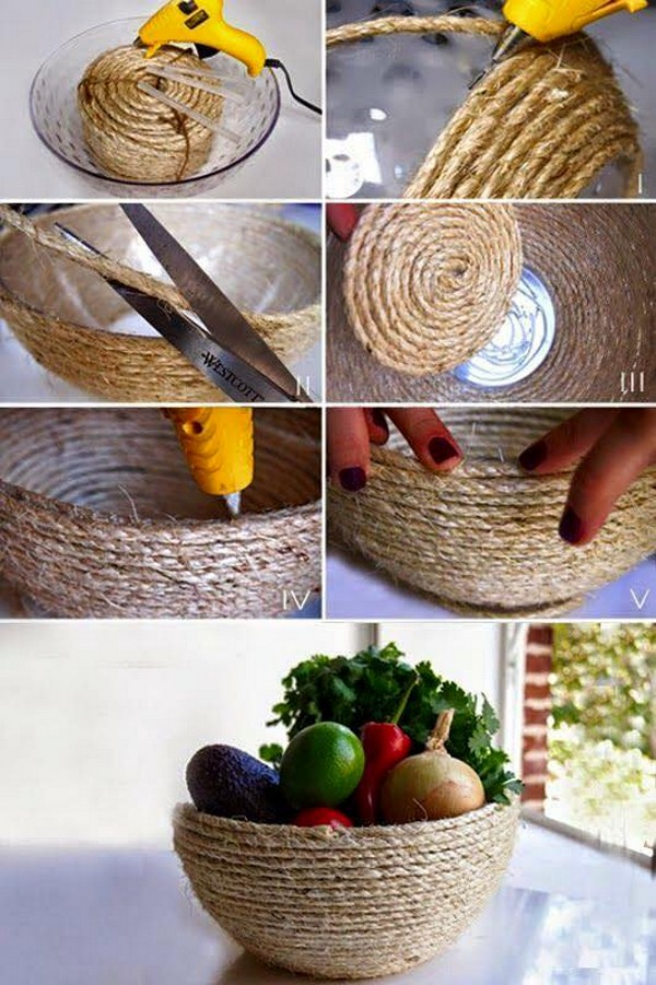 Sisal Rope Basket