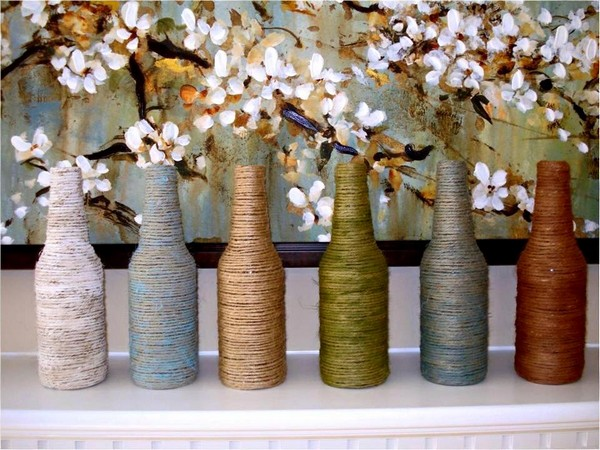Sisal Rope Bottle Crafts