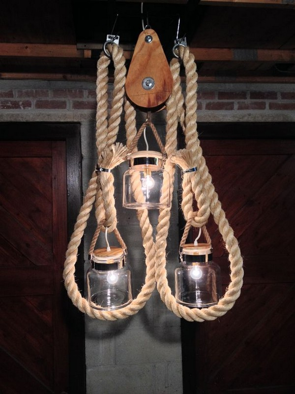 Sisal Rope Light Idea