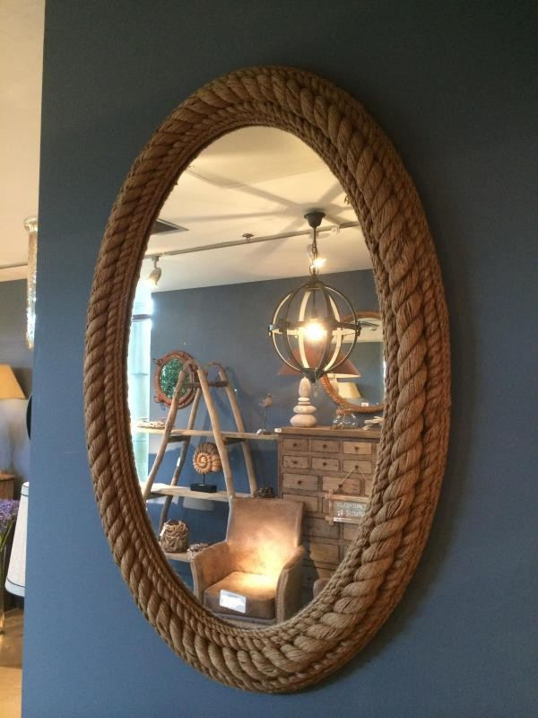 Sisal Rope Oval Wall Mirror