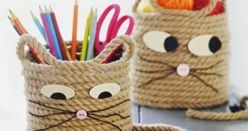Sisal Rope cat storage baskets
